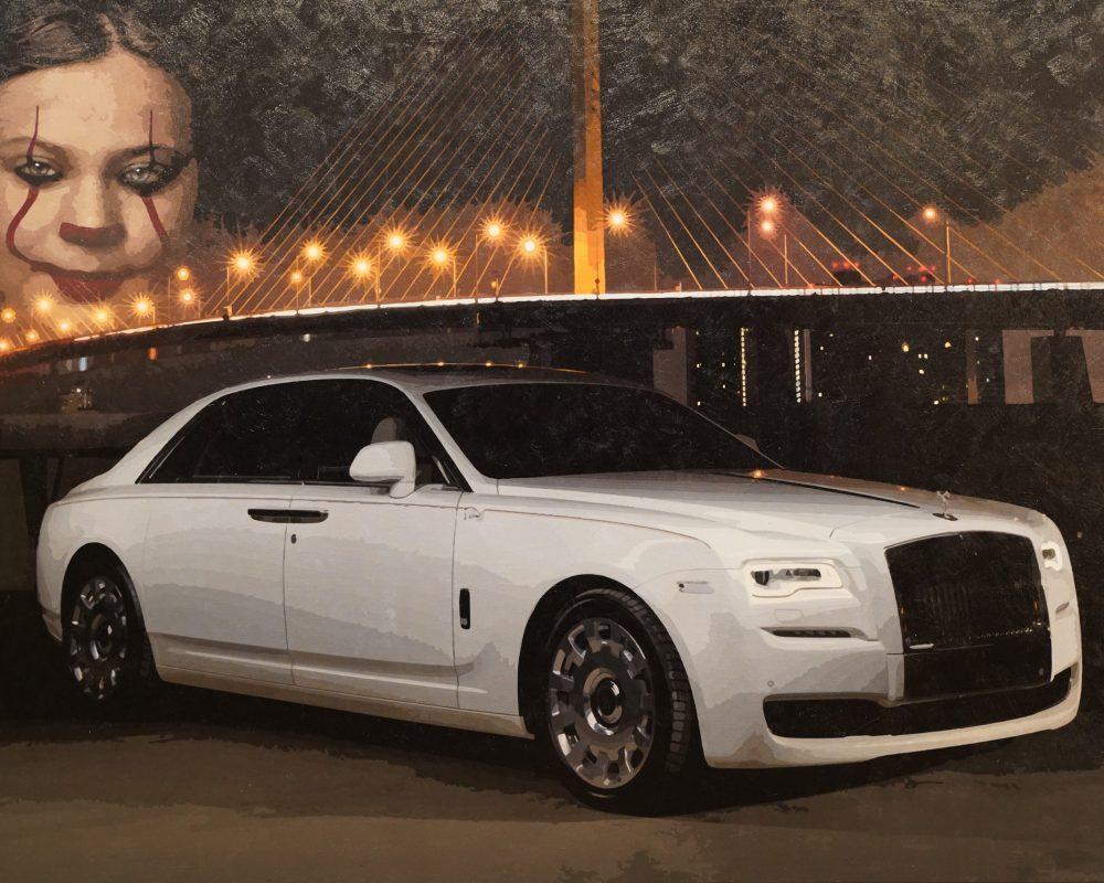 Greta und Rolls Royce 2,20 x 1,50m