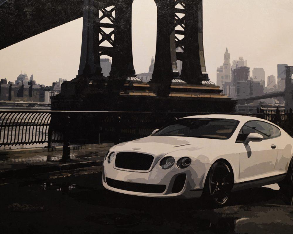 Bentley in New York 2,20 x 1,50m